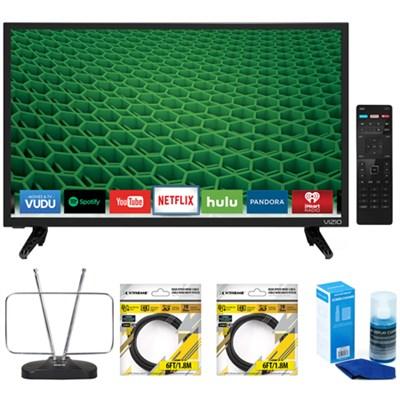 D24-D1 D-Series 24` Class Edge-Lit LED Smart TV with Accessories Bundle