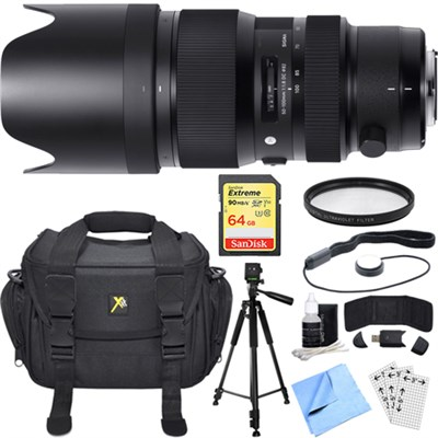 50-100mm f/1.8DC HSM Lens for Nikon Mount Essential Accessory Deluxe Bundle