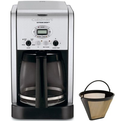 Brew Central 12-Cup Programmable Coffeemaker Refurbished w/Gold Tone Filter