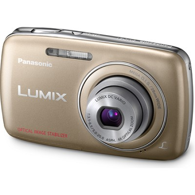 Lumix DMC-S1 12MP Compact Gold  720p HD - OPEN BOX