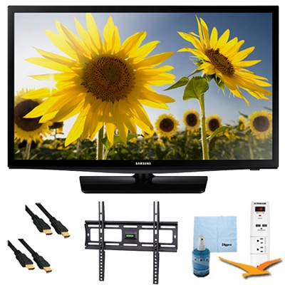 UN24H4000 - 24-inch 720p HD Slim LED TV CMR 120 Plus Bundle