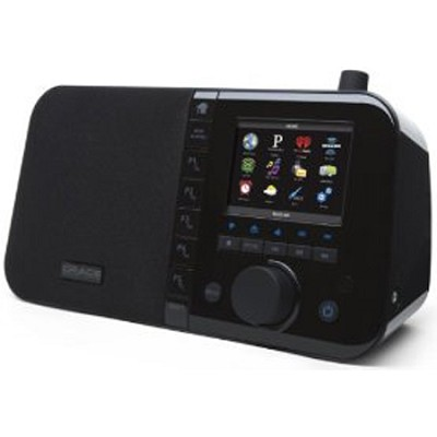 Wi-Fi Music Player Desktop Internet Radio 3.5` Color Display Black (GDI-IRC6000)