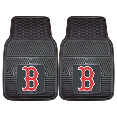 MLB Boston Red Sox Vinyl Heavy Duty Car Mat - Set of Two