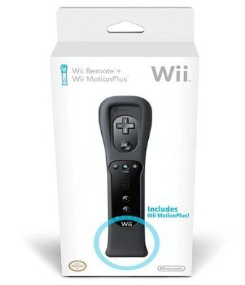 Wii Remote + Wii Motion Plus Bundle - Black