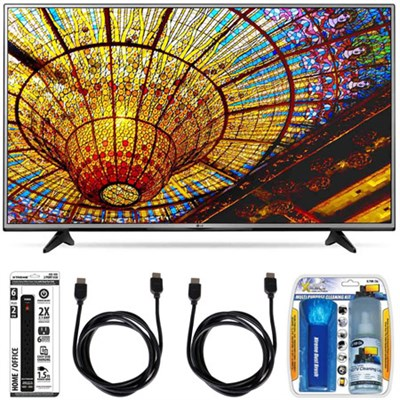 65UH6030 - 65-Inch 4K UHD Smart LED TV w/ webOS 3.0 Essential Accessory Bundle
