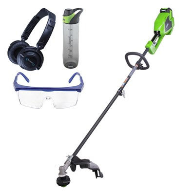 G-MAX 40V 14-inch DigiPro String Trimmer w/ Safety Bundle