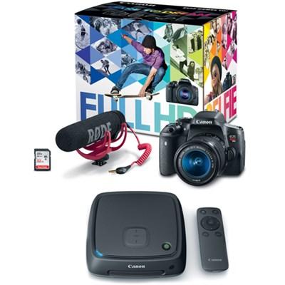 EOS Rebel T6i Video Creator Kit w/ Lens, Mic, and 32GB SD Card + 1TB CS100 Hub