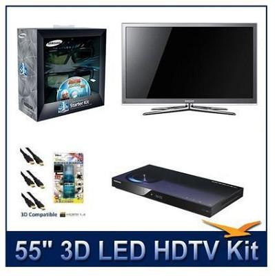 UN55C8000 - 55` 3D 1080p 240Hz LED HDTV w/ 3D Glasses & Blu-Ray Player