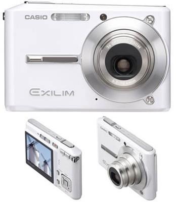 Exilim EX-S500 SUPER Slim Digital Camera (White)