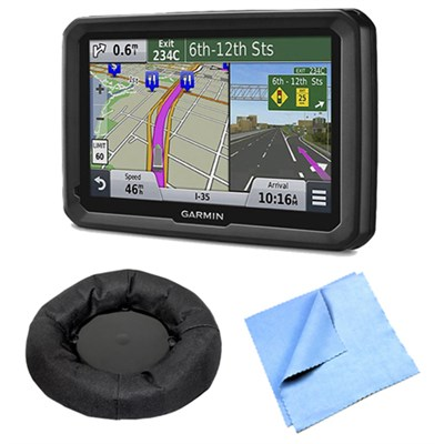 dezl 570LMT 5` Truck GPS Navigation w Lifetime Map Traffic Dash Mount Bundle