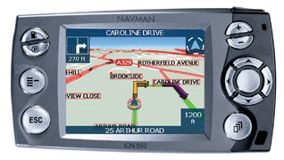 iCN 550 in-car/handheld Advanced GPS Navigation Receiver