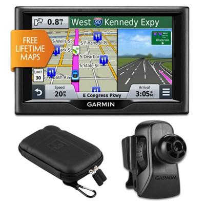 nuvi 58LM 5` Essential Series 2015 GPS Lifetime Maps Vent Mount & Case Bundle