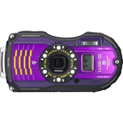 WG-3 16MP Purple GPS-Enabled Waterproof Shockproof Crushproof Digital Camera