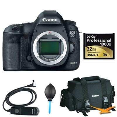 EOS 5D Mark III 22.3 MP Full Frame CMOS DSLR Camera (Body) Plus 32GB Memory Kit