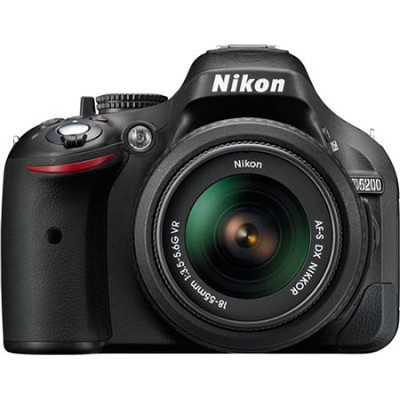 D5200 24.1 MP DSLR Camera with 18-55mm VR Lens