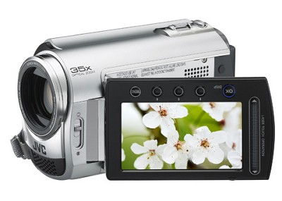 GZMG330  Hard Disk HDD/micro SD Hybrid Camcorder (Diamond Silver) - Refurbished