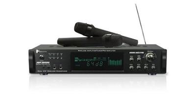 1000 -Watt Hybrid Power Amp with dual wireless mics (Black)