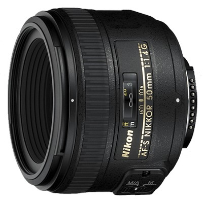 AF-S NIKKOR 50mm f1.4G Lens - FACTORY REFURBISHED