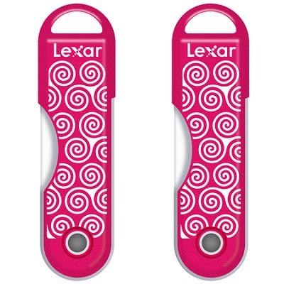 32GB Twistturn Swirls Pink USB Memory Flash Drive 2 Pack Bundle