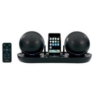 JiSS-585 Universal Docking Station for iPod with RF Wireless Speakers (Black)