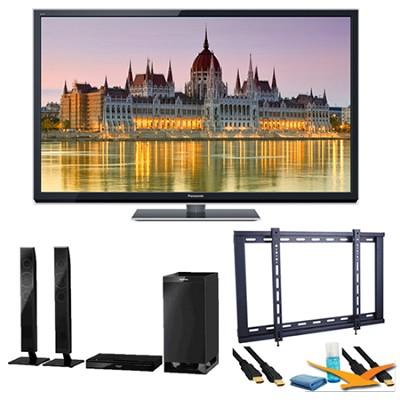 60` TC-P60ST50 VIERA 3D HD (1080p) Plasma TV with Built-in Wifi Speaker Bundle