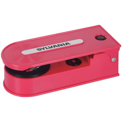 STT008USB Mini Turntable Record Player with USB Encoding - Red