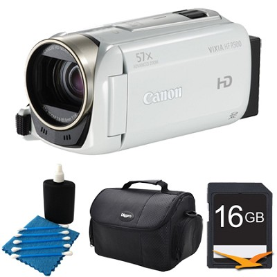 VIXIA HF R500 1080/60p HD Camcorder White Kit