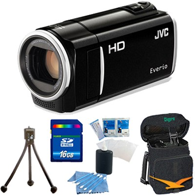 GZ-HM50US Flash Memory Camcorder (Black) - 16 GB Memory Bundle
