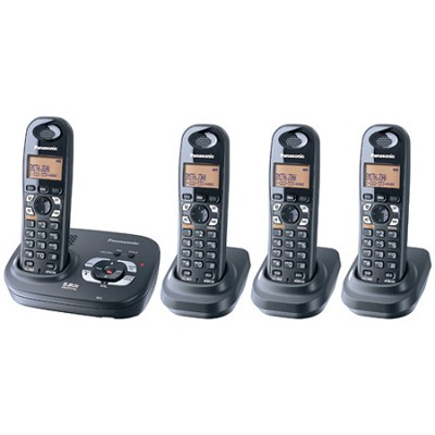 KX-TG4324B 5.8 GHz Expandable Digital Cordless Phone with 4 Handsets