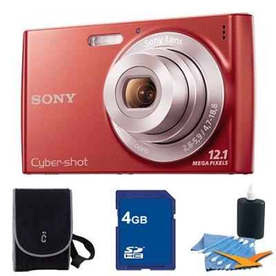 Cyber-shot DSC-W510 Red Digital Camera 4GB Bundle