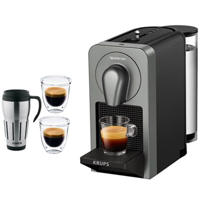 Prodigio Smart Coffee & Espresso Maker w/Smartphone Connectivity Titan + Bundle