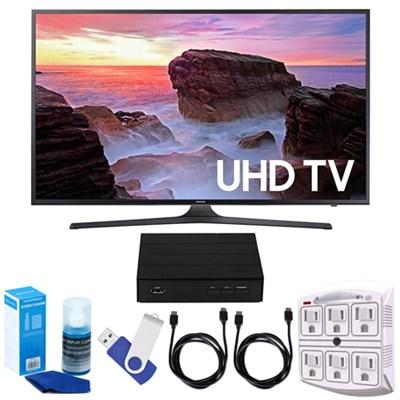 43` 4K UHD Smart LED TV (2017) + Terk HD TV Tuner 16GB Hook-Up Bundle