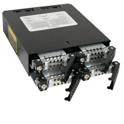 Rugged Full Metal 4 Bay 2.5` SATA/SAS HDD & SDD Backplane Cage - MB994SK-1B