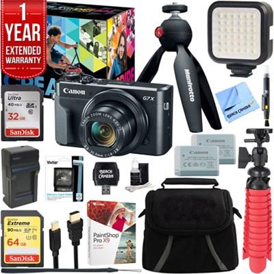 PowerShot G7 X Mark II Digital Camera Video Creator Kit + 64GB Accessory Bundle