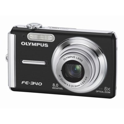 FE-340 8MP Digital Camera (Black) - REFURBISHED