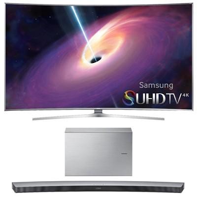 UN55JS9000 Curved 55` 2160p 3D 4K SUHD LED TV HW-J7501 Soundbar Bundle
