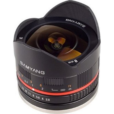 8mm F2.8 UMC Ultra Wide-Angle Fisheye Lens for Fuji X Mount - Black