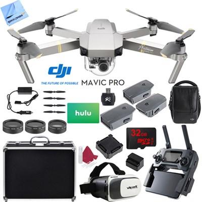 Mavic Pro Platinum 4K Camera Quadcopter Drone 2 Extra Batteries Deluxe Pack