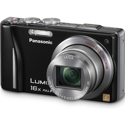 Lumix DMC-ZS10 14.1 MP Black Camera w/16x Zoom & GPS.OPEN BOX