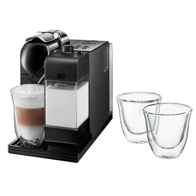 Lattissima Plus Capsule Espresso/Cappuccino Machine   w/ Glasses, Set of 2
