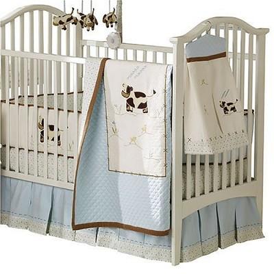 Moo Cow Crib Set - 4 piece