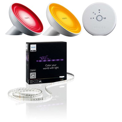 Friends of Hue Bloom Wireless Lighting Advanced Kit with 2 Bulbs & Lightstrip