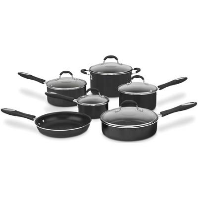 55-11 Advantage Non-Stick 11-Piece Cookware Set - Black