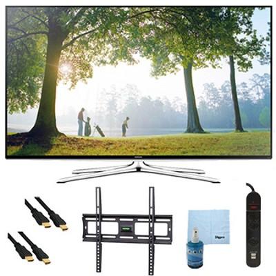 UN65H6350 - 65` HD 1080p Smart HDTV 120Hz with Wi-Fi Plus Mount & Hook-Up Bundle