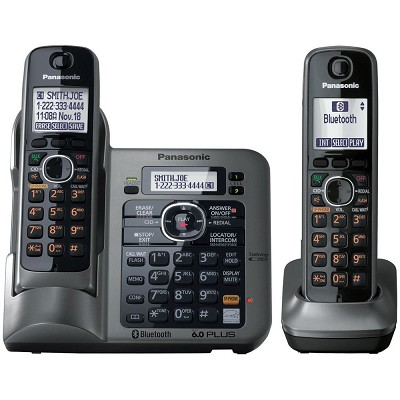 KX-TG7642M DECT 6.0 Link-to-Cell via Bluetooth Cordless Phone with Answering Sys