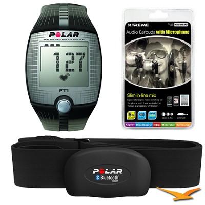 FT1 Heart Rate Monitor (Black) Bundle