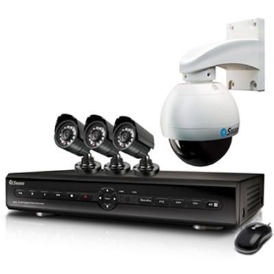 Alpha D14C18 - 8CH H.264 DVR / 500GB / 3 x Pro 580 / Pan tilt CCD Camera