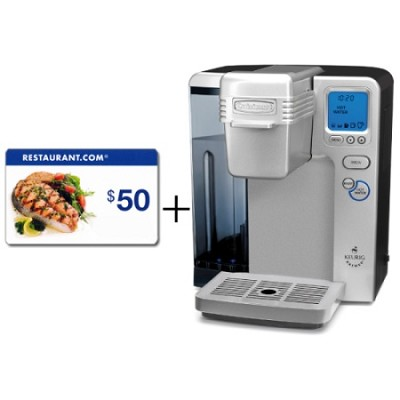Refurbished SS-700 Keurig Brewing Coffeemaker $50 Restaurant.com gift card!!