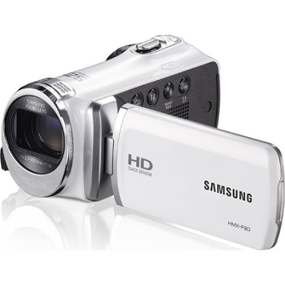 HMX-F90 52X Optimal Zoom HD Camcorder - White