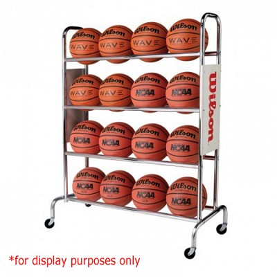 NCAA Deluxe 16 Basketball Ball Rack